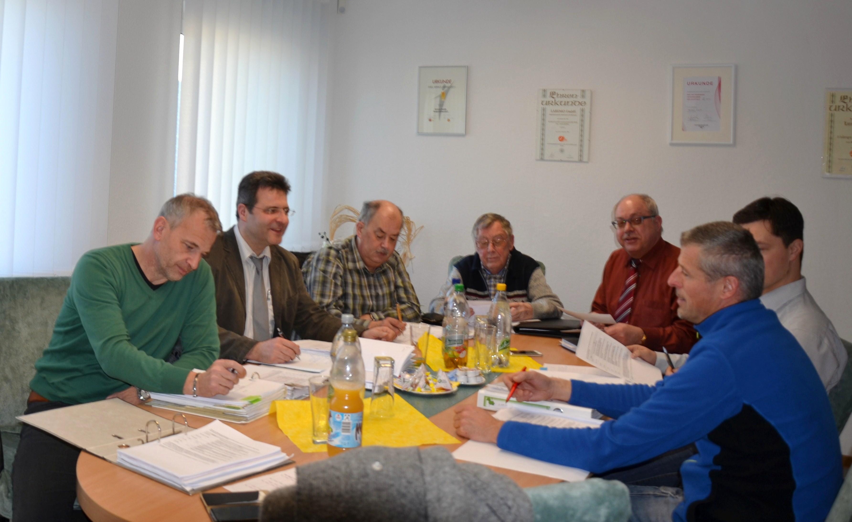 Arbeitsgruppensitzung am 27.02.2015 in der LAREMO GmbH in Langenwetzendorf