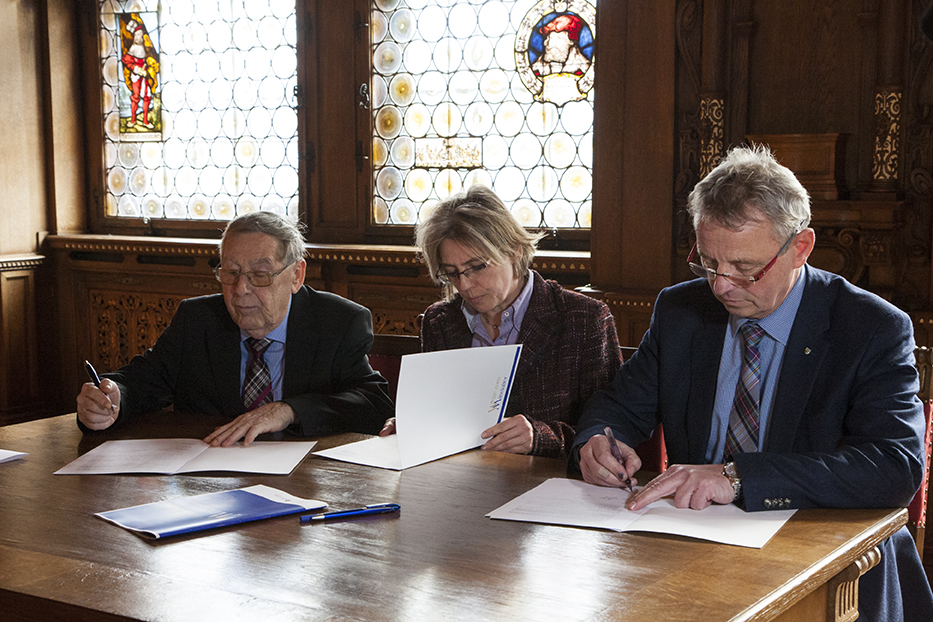 """Unterzeichnung der Kooperationsvereinbarung """"Wege zum Mittelalter"""", Foto: Michelle Matuszczak"""